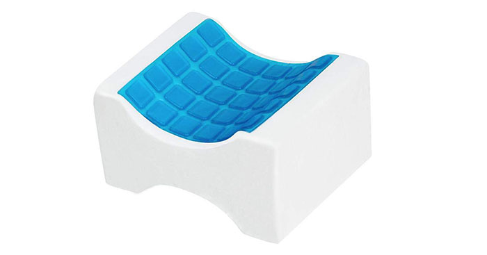 Cooling Gel Memory Foam knee pillow Wedge Contour Orthopedic Knee Pillow for Sciatica Nerve Relief, Back, Leg, Hip, and Joint Pain, Leg Support, Spine Alignment, Pregnancy Cushion, Leg pillow