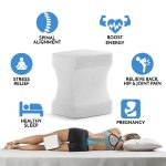 gel Memory Foam knee pillow Wedge Contour Orthopedic Knee Pillow for Sciatica Nerve Relief, Back, Leg, Hip, and Joint Pain, Leg Support, Spine Alignment, Pregnancy Cushion, leg pillow 01
